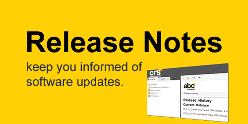 Show the CRS release notes.